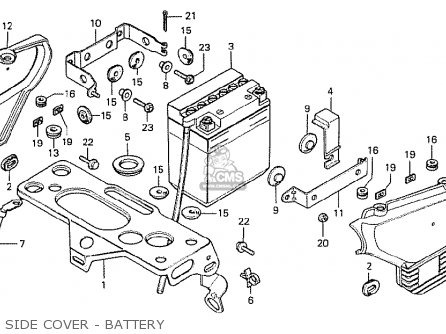 Honda Cx500 1978 England Side Cover - Battery