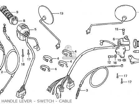 Honda Cx500 1978 European Direct Sales Handle Lever - Switch - Cable