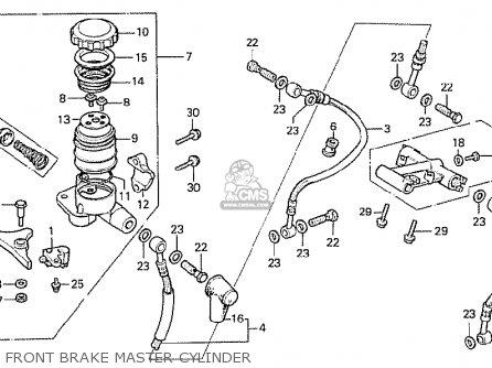 Honda Cx500 1978 France Front Brake Master Cylinder