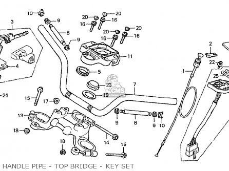 Honda Cx500 1978 France Handle Pipe - Top Bridge - Key Set