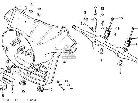 Honda Cx500 1978 France Headlight Case