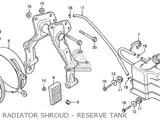 Honda Cx500 1978 France Radiator Shroud - Reserve Tank