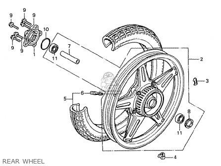 Honda Cx500 1978 France Rear Wheel