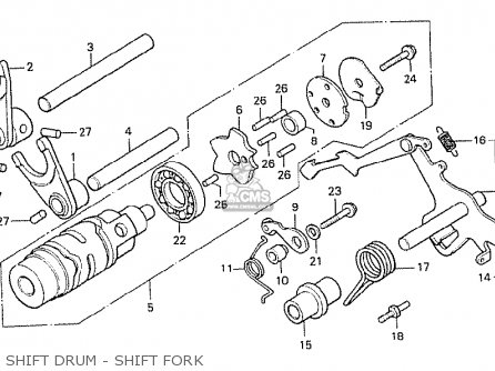 Honda Cx500 1978 France Shift Drum - Shift Fork