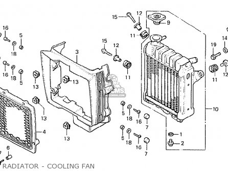 Honda Cx500 1978 General Export Kph Radiator - Cooling Fan