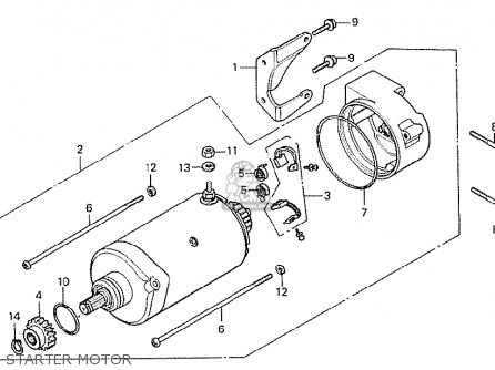 Honda Cx500 1978 General Export Kph Starter Motor