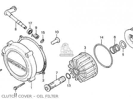 Honda Cx500 1978 General Export Mph Clutch Cover - Oil Filter