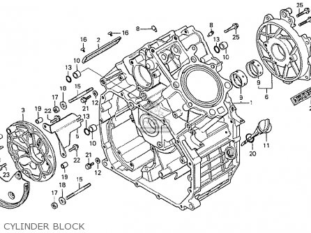 Honda Cx500 1978 General Export Mph Cylinder Block