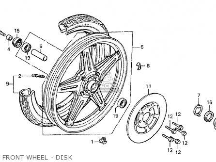 Honda Cx500 1978 General Export Mph Front Wheel - Disk