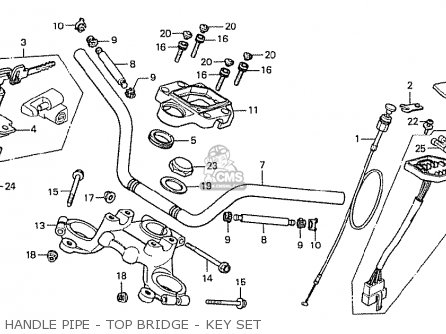 Honda Cx500 1978 General Export Mph Handle Pipe - Top Bridge - Key Set