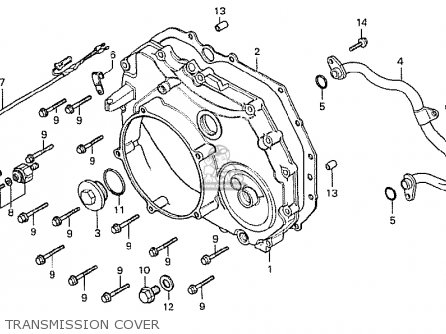 Honda Cx500 1978 General Export Mph Transmission Cover