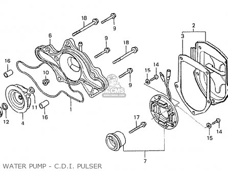 Honda Cx500 1978 General Export Mph Water Pump - C d i  Pulser