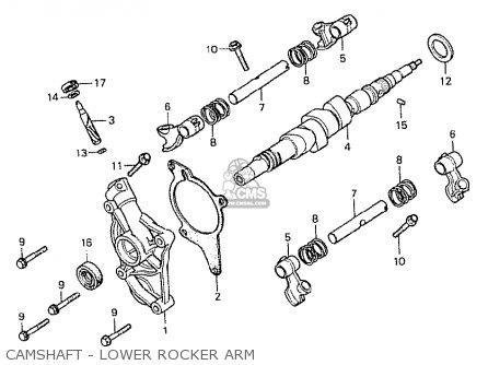 Honda Cx500 1978 Germany 27ps Type Camshaft - Lower Rocker Arm