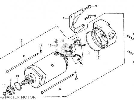 Honda Cx500 1978 Germany 27ps Type Starter Motor