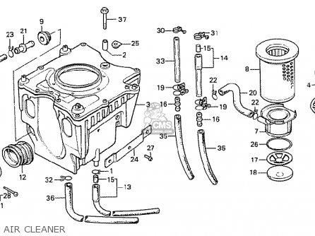 Honda Cx500 1978 Germany Full Power Version Air Cleaner