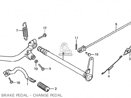 Honda Cx500 1978 Italy Brake Pedal - Change Pedal