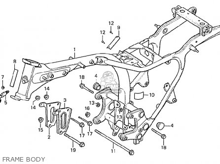 Honda Cx500 1978 Italy Frame Body