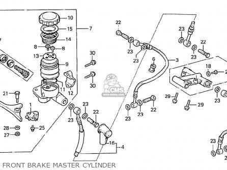 Honda Cx500 1978 Italy Front Brake Master Cylinder