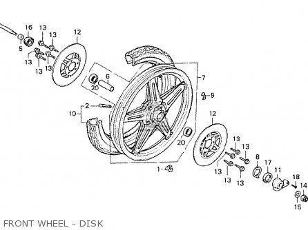 Honda Cx500 1978 Italy Front Wheel - Disk