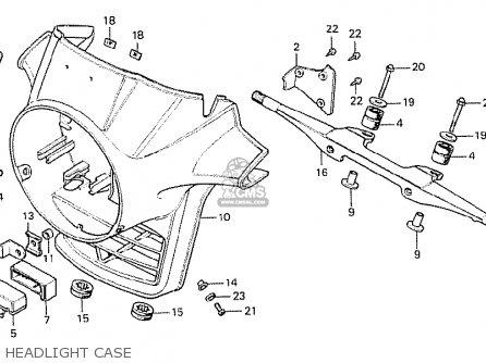 Honda Cx500 1978 Italy Headlight Case