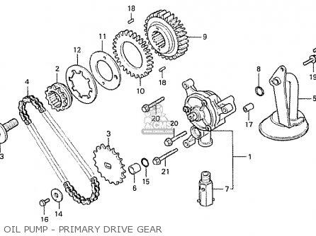 Honda Cx500 1978 Italy Oil Pump - Primary Drive Gear