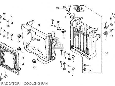 Honda Cx500 1978 Italy Radiator - Cooling Fan