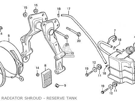 Honda Cx500 1978 Italy Radiator Shroud - Reserve Tank