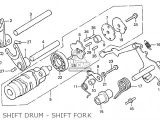 Honda Cx500 1978 Italy Shift Drum - Shift Fork