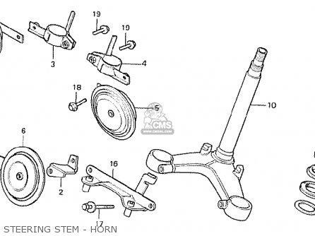 Honda Cx500 1978 Italy Steering Stem - Horn