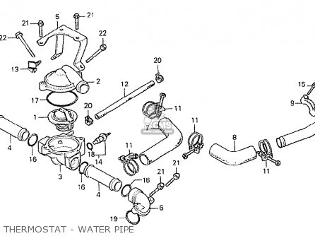 Honda Cx500 1978 Italy Thermostat - Water Pipe