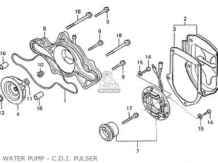 Honda Cx500 1978 Italy Water Pump - C d i  Pulser
