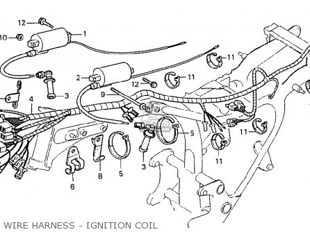 Honda Cx500 1978 Italy Wire Harness - Ignition Coil