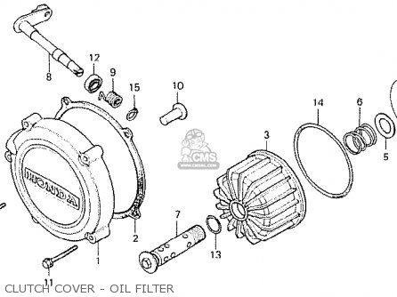 Honda Cx500 1978 South Africa Clutch Cover - Oil Filter