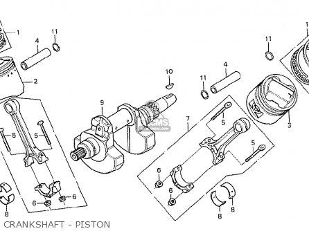Honda Cx500 1978 South Africa Crankshaft - Piston