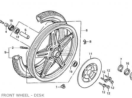 Honda Cx500 1978 South Africa Front Wheel - Disk