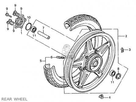 Honda Cx500 1978 South Africa Rear Wheel