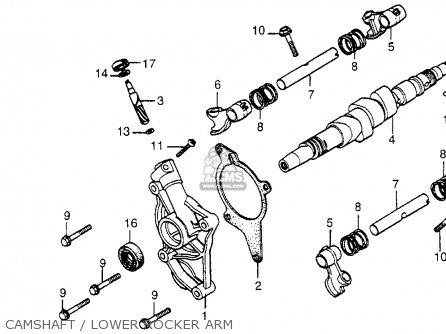 Honda Cx500 1978 Usa Camshaft   Lower Rocker Arm