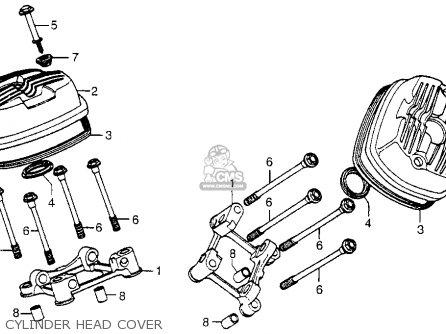 Honda Cx500 1978 Usa Cylinder Head Cover