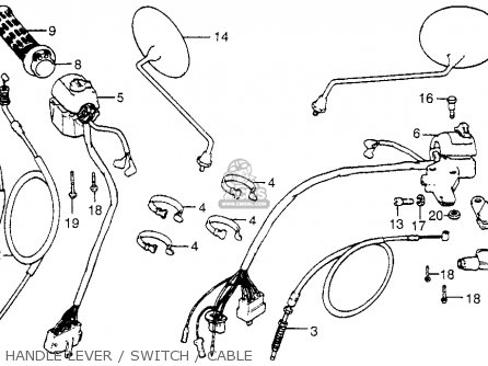Honda Cx500 1978 Usa Handle Lever   Switch   Cable