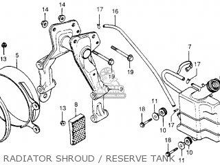 Honda Cx500 1978 Usa Radiator Shroud   Reserve Tank