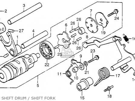 Honda Cx500 1978 Usa Shift Drum   Shift Fork