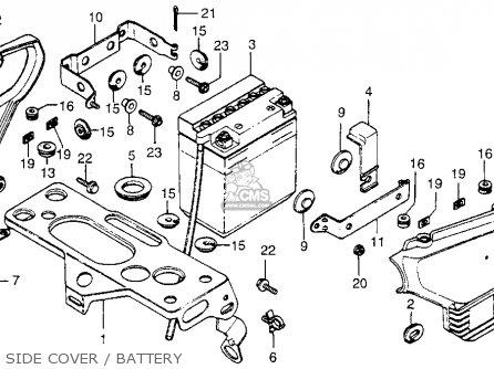 Honda Cx500 1978 Usa Side Cover   Battery