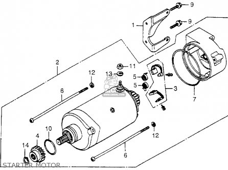 Honda Cx500 1978 Usa Starter Motor