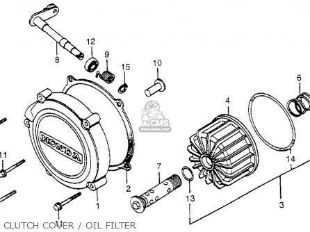 Honda Cx500 1979 z Usa Clutch Cover   Oil Filter