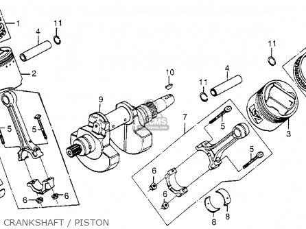 Honda Cx500 1979 z Usa Crankshaft   Piston