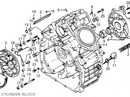 Honda Cx500 1979 z Usa Cylinder Block