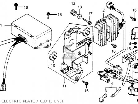 Honda Cx500 1979 z Usa Electric Plate   C d i  Unit