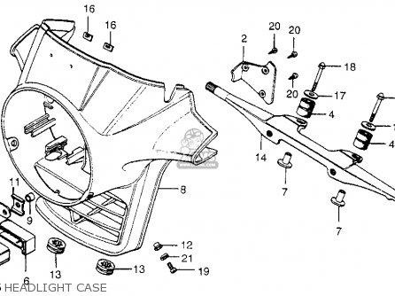 Honda Cx500 1979 z Usa Headlight Case