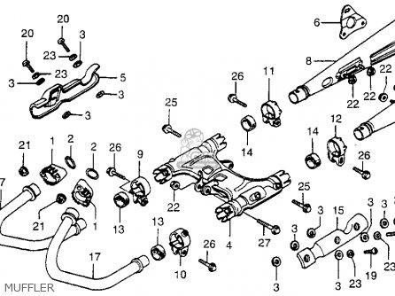 Honda Cx500 1979 z Usa Muffler