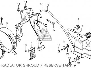 Honda Cx500 1979 z Usa Radiator Shroud   Reserve Tank